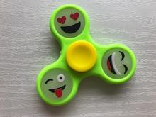 Glow in Light Luminous Hand Finger Fidget Spinner Smiley Face