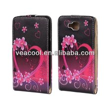 Lovely Heart Book Wallet PU Leather Case for LG Optimus L9 II D605 Case