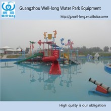 Large water park equipment amusement park water house slides for adult