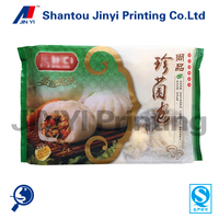 Custom designed resealable frozen food packaging bag