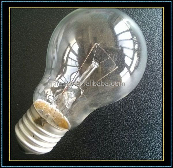 clear incandescent lamp PS60 75W 220V for Algeria market