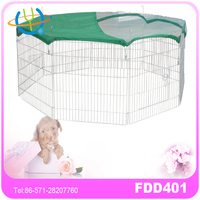 Dog Animal Playpen Large Metal Wire Folding Exercise Yard Fence 8 Panel Popup Kennel Crate Fence Tent Portable - Black - Premium