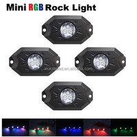 New led rock lights IP68 waterproof mini rock light for cars,outdoor,jeep,off road rgb rock lights