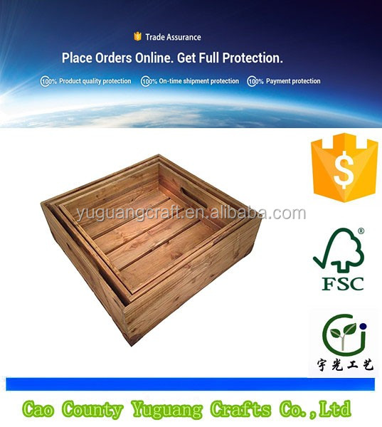 Trade Assurance Wholesale Antique mini Set Of 3 Cheap Wooden Crates For Sale