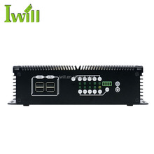 High configuration net box computer embedded on board 2G ram thin clients mini pc with 2 lan rj45 ports for digital signage