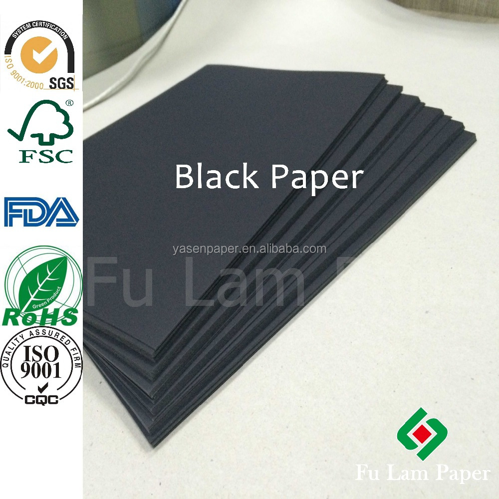 80g 110g black color cardboard paper