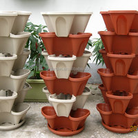 Growing Packing Cartons Stackable Planters Plastic