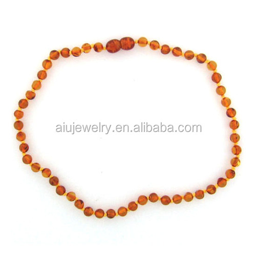 natural amber baby teething necklace , Safity Certification available