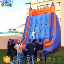 Kids Inflatable Rock Climbing Wall Sport Games / Inflatable climbing mountain hill