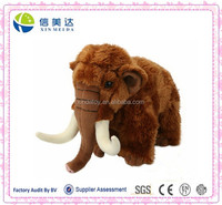Brown mammoth plush stuffed forest animals toy