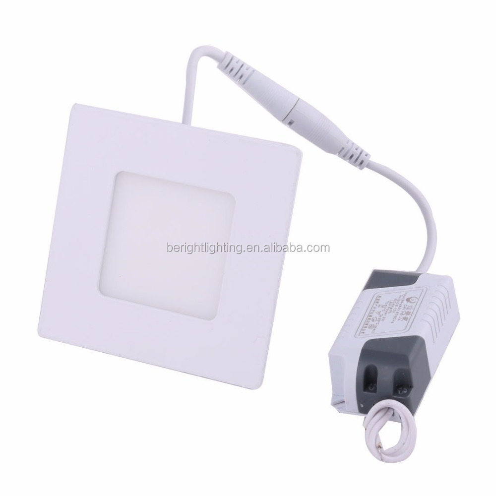 White 3W Square Home Dimmable LED Recessed Ceiling Panel Down Light AC85-265V