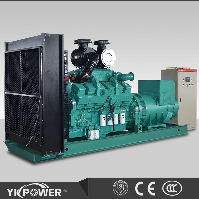 800KW diesel generator set open type powered by Cummins engine KTA38-G5
