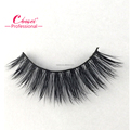False mink fur lashes with length concentrated at the center of the eyes
