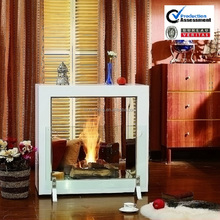 on sale modern fireplace 2 sided electric fireplace for home decorative goods