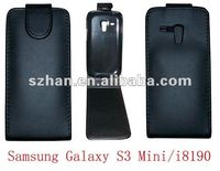 Shine Flip PU Leather Case for Samsung i8190 Galaxy S3 III mini