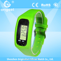 New digital watch silicone shenzhen pedometer