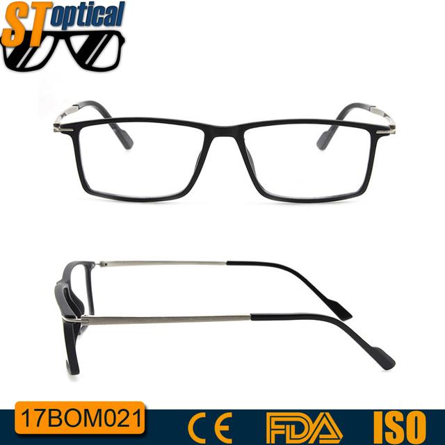 c6a2e6a382 2017 OEM China square metal latest model spectacle wholesale eyeglasses man  optical men frame eye glasses