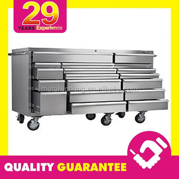 "Custom Massive 72 Inch Toolbox Roller Cabinet Stainless Steel 72"" Tool Box"