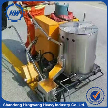 Portable wheel mounted road used thermoplastic road marking machine