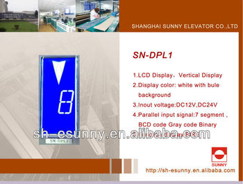 Screen lcd elevator display