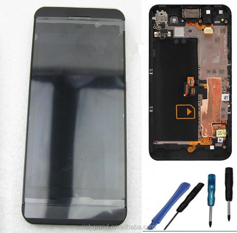 New OEM LCD Display + Touch Glass Digitizer Screen For Blackberry Z10 + frame 4G