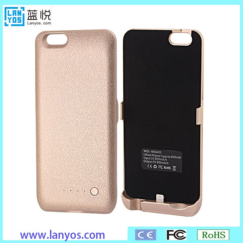 for Apple Power Bank 4000mah External Charger Backup Battery Cover Case for iphone 6