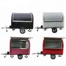 Retro mobile food truck 7.5ft dining car food trailer for europe vendors hotdog food cart