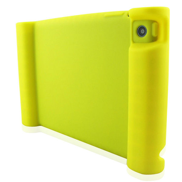 Yellow silicone case for ipad kids case