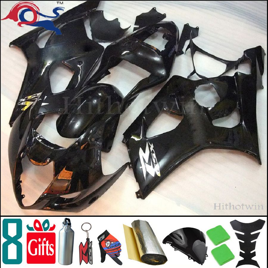 manufacturer customize ! 8Gifts+Injection mold GSXR1000 2003 2004 ABS Fairing for Suzuki GSX-R1000 03-04 K3 cover glossy black