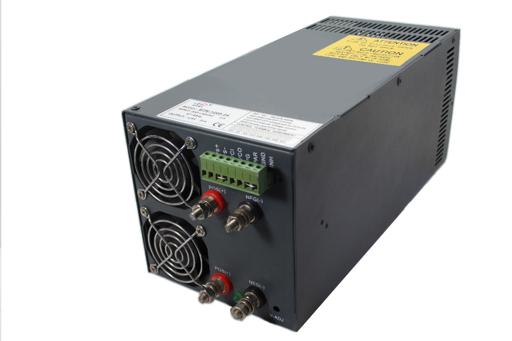 SCN-1200-24 High power 1200w ac to dc single output power supply with Parallel Function led driver