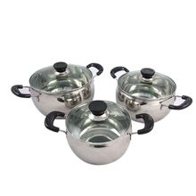 Alibaba express quality assurance 6Pcs 201 Stainless steel Cookware Set