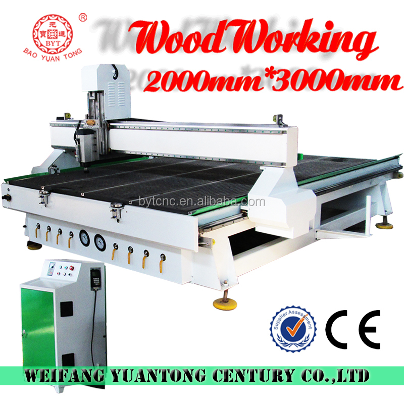 Best Price China T-slot vacuum table cnc router 2000mm