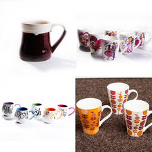 New products unique ceramic mugs grouting white mug factory direct coffee cup with shape handle