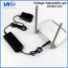 Portable Wifi Router Use DC Online Voltage Selectable Mini UPS Battery 5V 9V 12V Voltage Adjust Power Supply Switchable UPS