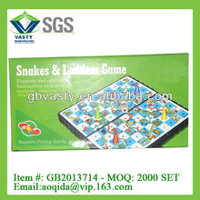 folding magnetic snake ludo game