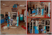 Horizontal-blown pvc shrink cling film blowing machines