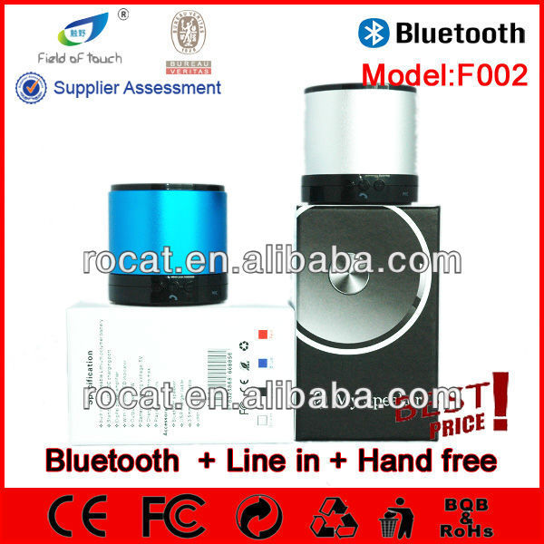 2013 Newest coming wireless max sound speaker with handsfree calling function