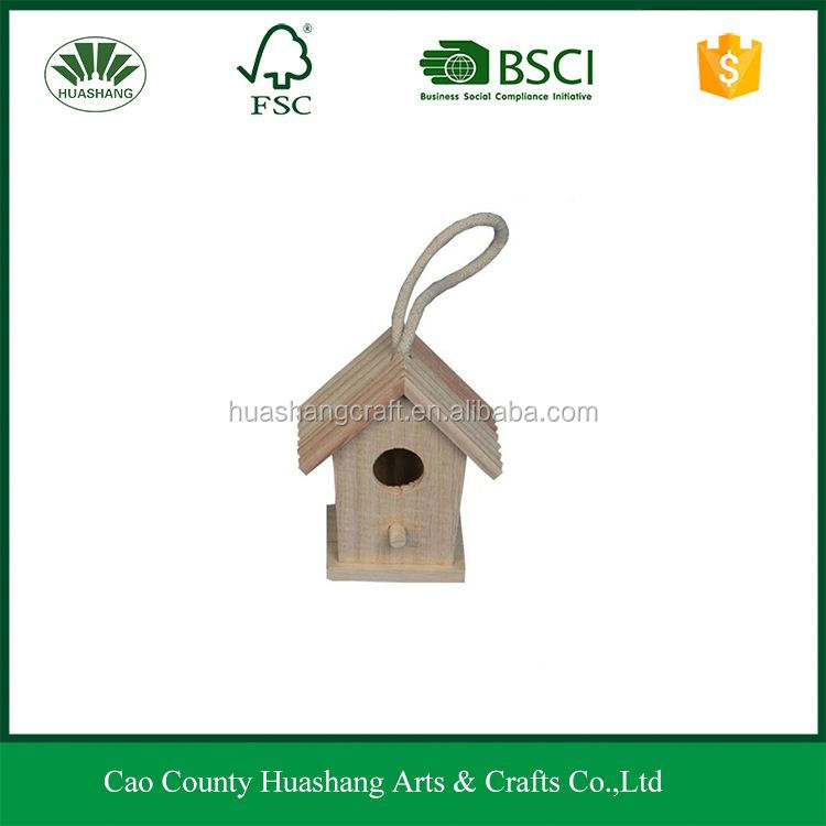 Small new unfinished wood bird house paint your own for decorative