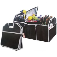 Foldable auto car boot organizer bag Portable Collapsible Folding Flat storage Trunk Auto Organizer for Car SUV Truck Van