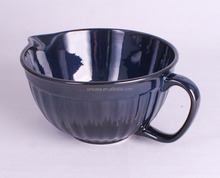 March Expo.-UNICASA Ceramic Baking ware Ramekin/Bowl with handle round Reactive Glaze