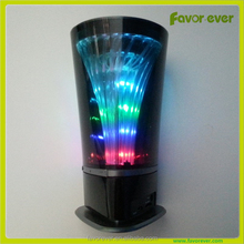 Mini portable tower bluetooth speaker with LED disco light, TF card, aux, handsfree microphone