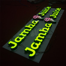 high quality led channel letter for warning sign
