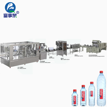 Quality Assurance automatic washing-filling-capping mineral water bottle making machine