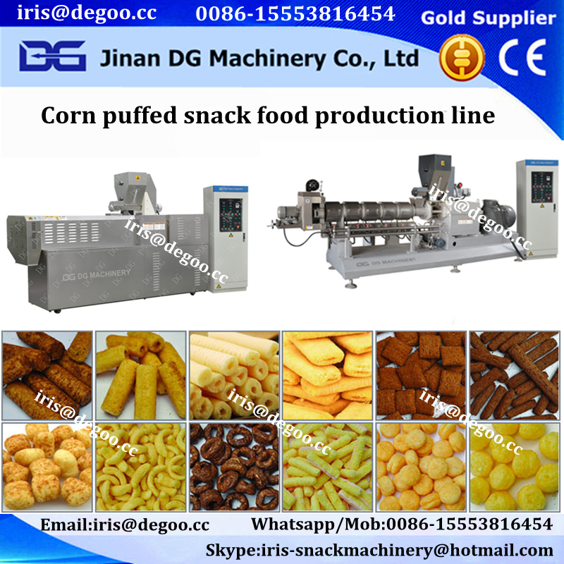 Jams core filled snack food/ corn puffing snacks machines /making equipment with various shapes