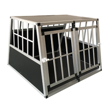 Aluminium dog cage/double door/outdoor/ dog carrier