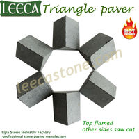 Triangle mosaic cubes hexagon paver