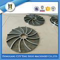 CUSTOMIZED STEEL LOST WAX CASTING SEMICLOSED-TYPE IMPELLER