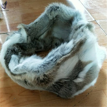 ALICEFUR China fur scarf suppliers genuine rabbit fur scarf real fur scarves