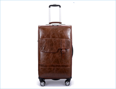 New products luggage travel bags laptop PU leather business trolley bags