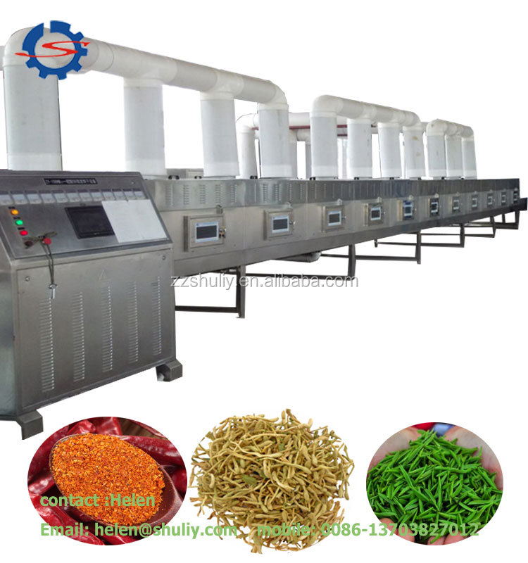 Continuous microwave drying machine for beef jerky Fish drying machine Shrimp dryer and sterilizer